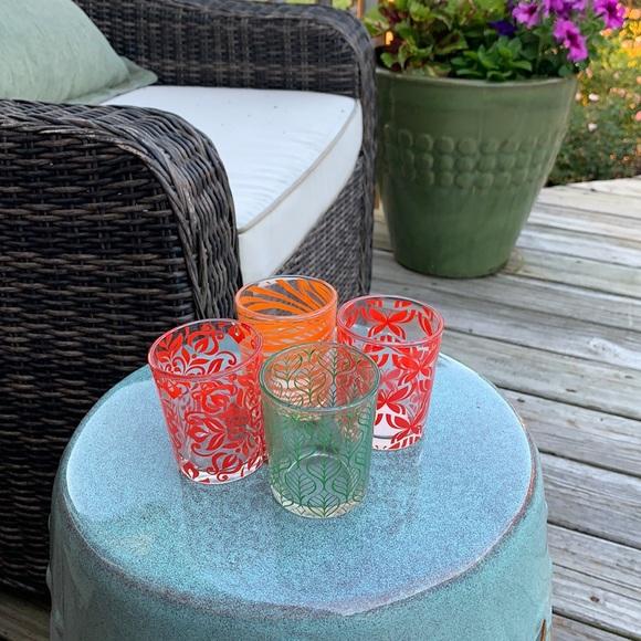 VINTAGE MCM JUICE GLASSES SET OF 4 VARIED PATTERNS